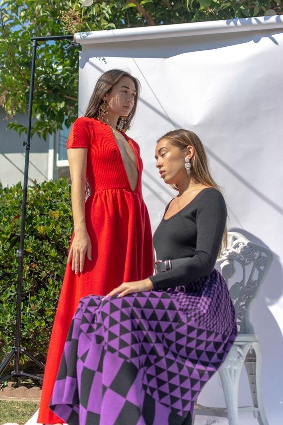 Purple & Black Rudi Gernreich for Harmon Knitwear