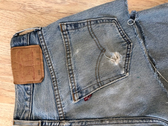 90's Vintage Distressed 501 Levi's Torn On The Ba… - image 6