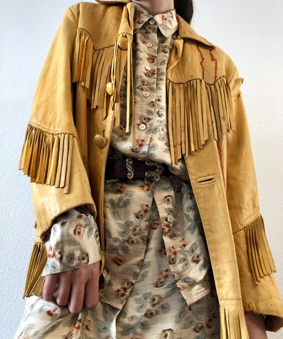 Cowboy 70's Fringe Leather Jacket