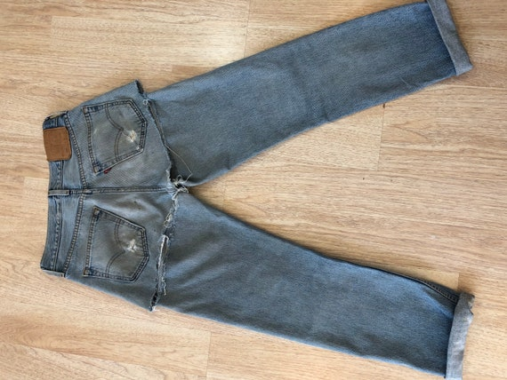 90's Vintage Distressed 501 Levi's Torn On The Ba… - image 7