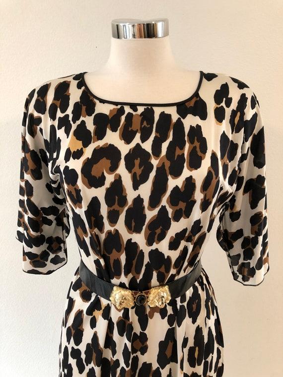 Vintage 60's 70's leopard print nightgown dress