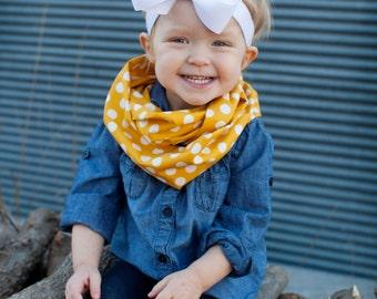Mustard Yellow Baby Toddler Child Infinity Scarf