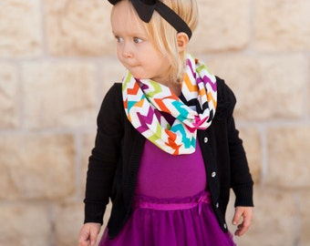 Multicolor Chevron Baby Toddler Child Infinity Scarf