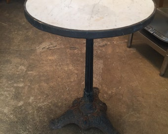 SOLD Vintage French Bistro Table Iron