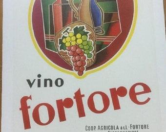 Large Original Italian Wine Poster 1950