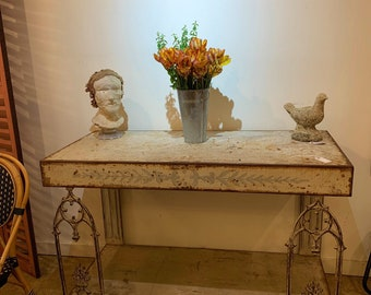 Exceptional Iron Console  or Potting Table