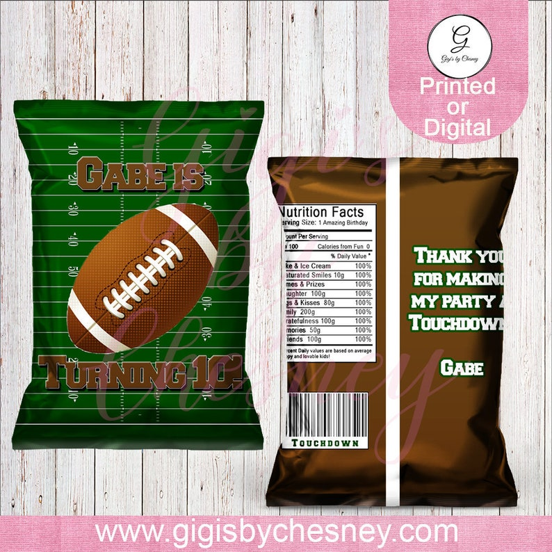 f54b63952b190 Football Chip Bags-Treat Bags-Football Treat Bags-Sports Party