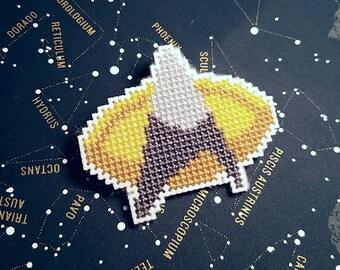 Star Trek: TNG Cross-Stitch Communicator Badge Pin