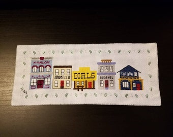 Deep Gulch Cross-Stitch - Old West Brothel Town