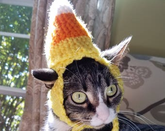 READY TO SHIP Candy Corn Cat Hat