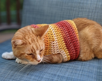 READY TO SHIP Fall/Winter Cat Sweaters-Various Sizes and Colors Available