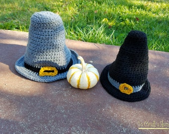 849aebbe8cf Pilgrim Hat (Gray or Black)-Thanksgiving Hats- Fall Hats