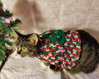 Ugly Christmas Sweater For Cats- Holiday Cat Sweater- Holiday sweater for pets- Clothes for cats