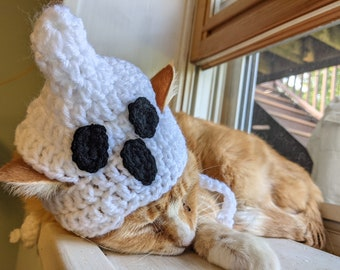READY TO SHIP Ghost Cat Hat