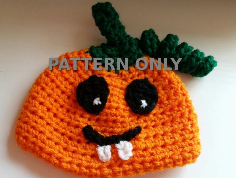 Silly Pumpkin Hat Pdf Crochet Pattern Halloween Crochet Etsy
