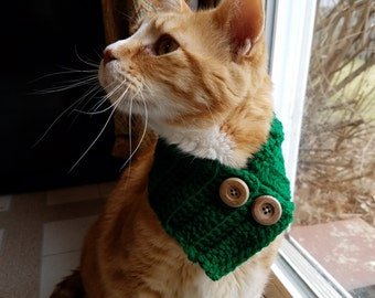 MADE TO ORDER Crochet Cat Cowl with adjustable fitting- Cat Cowl- Cat Scarf