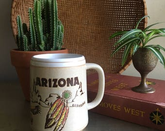 vintage stoneware Arizona mug boho souvenir desert cactus made in Japan
