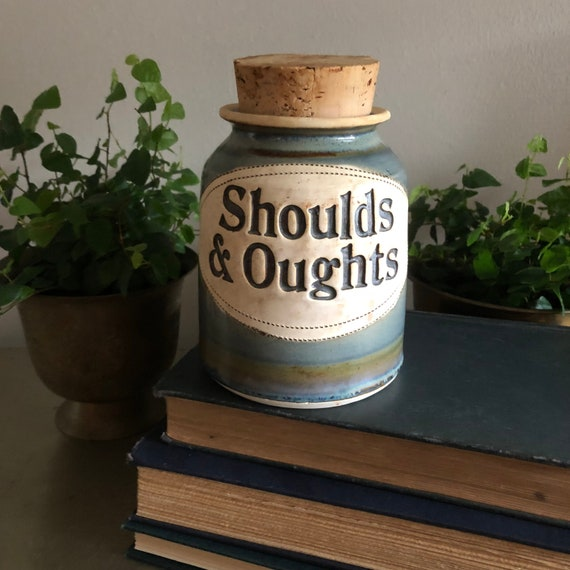 Items similar to vintage word jar Shoulds & Oughts Dr. Brophy's ...