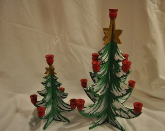 Tree Candle Holders (pair)