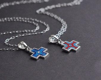 Handmade silver crosses