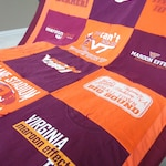 T Shirt Quilt · Standard T-Shirt quilt · T-Shirt Quilt · Upcycle T-Shirts · jersey Quilt ·