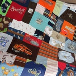 Baby Quilt from clothing - Various Colors - Baby Quilt - Free Shipping