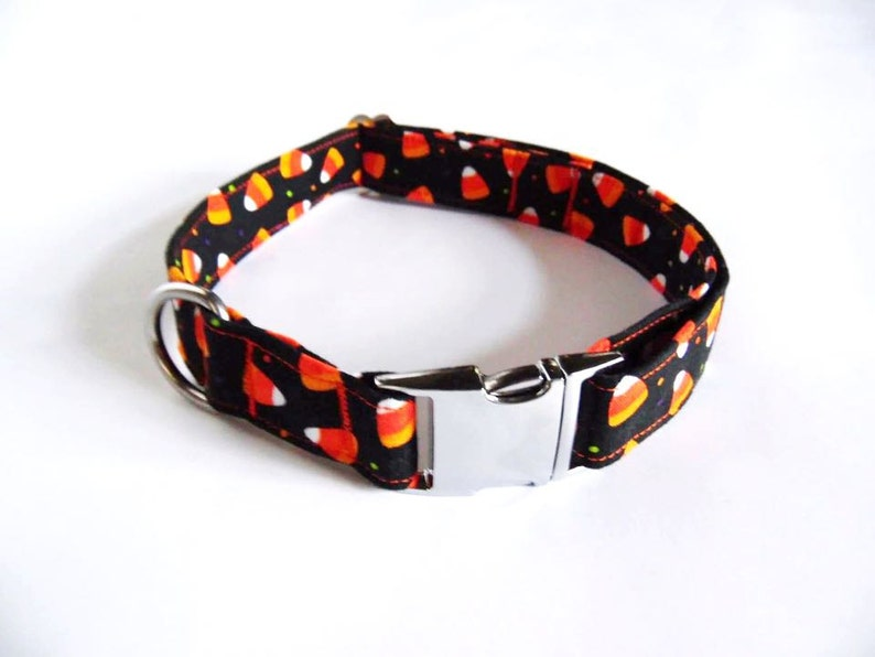Candy Corn Dog Collar  Different Sizes  Halloween Dog Collar image 0