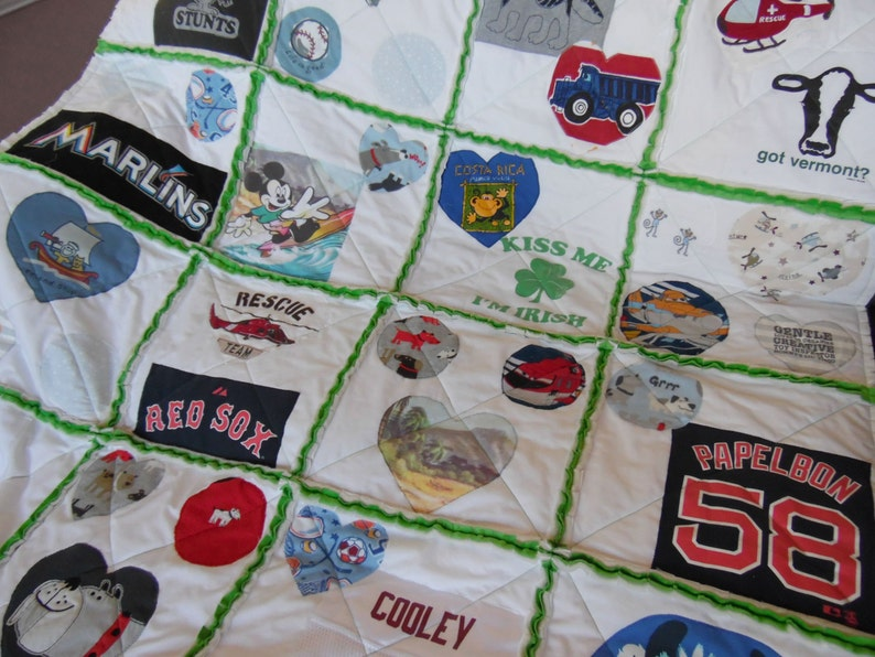 Rag Tshirt Quilt  Minky or Cotton backing  Tshirt Quilt  image 0