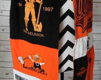 Custom Tshirt Scarf - Double Sided - Tshirt Scarf - Free Shipping available