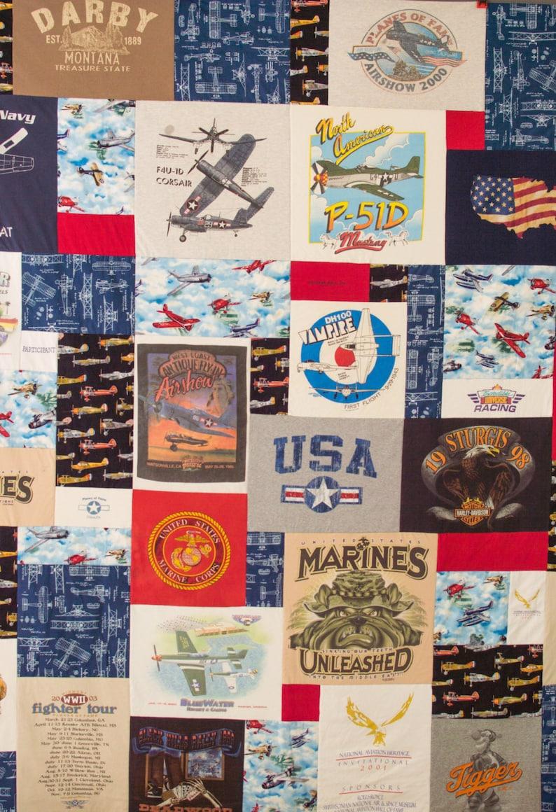 Puzzle Tshirt Quilt  Custom Colors  Tshirt Quilt  Free image 0