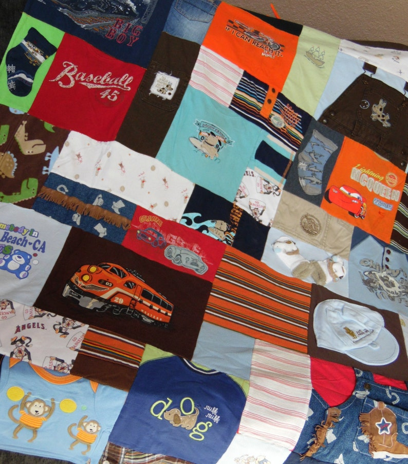 Baby Quilt from clothing  Various Colors  Baby Quilt  Free image 0