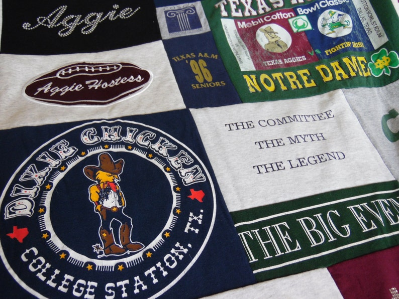 T-Shirt Quilt Custom  Mosaic Style  T-Shirt Quilt  Various image 0