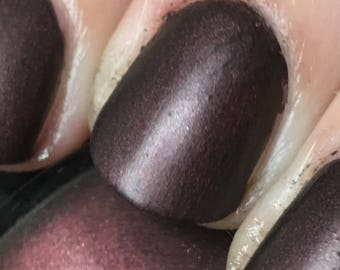 Not A Lady Nail Polish - matte/leather finish deep rusty red