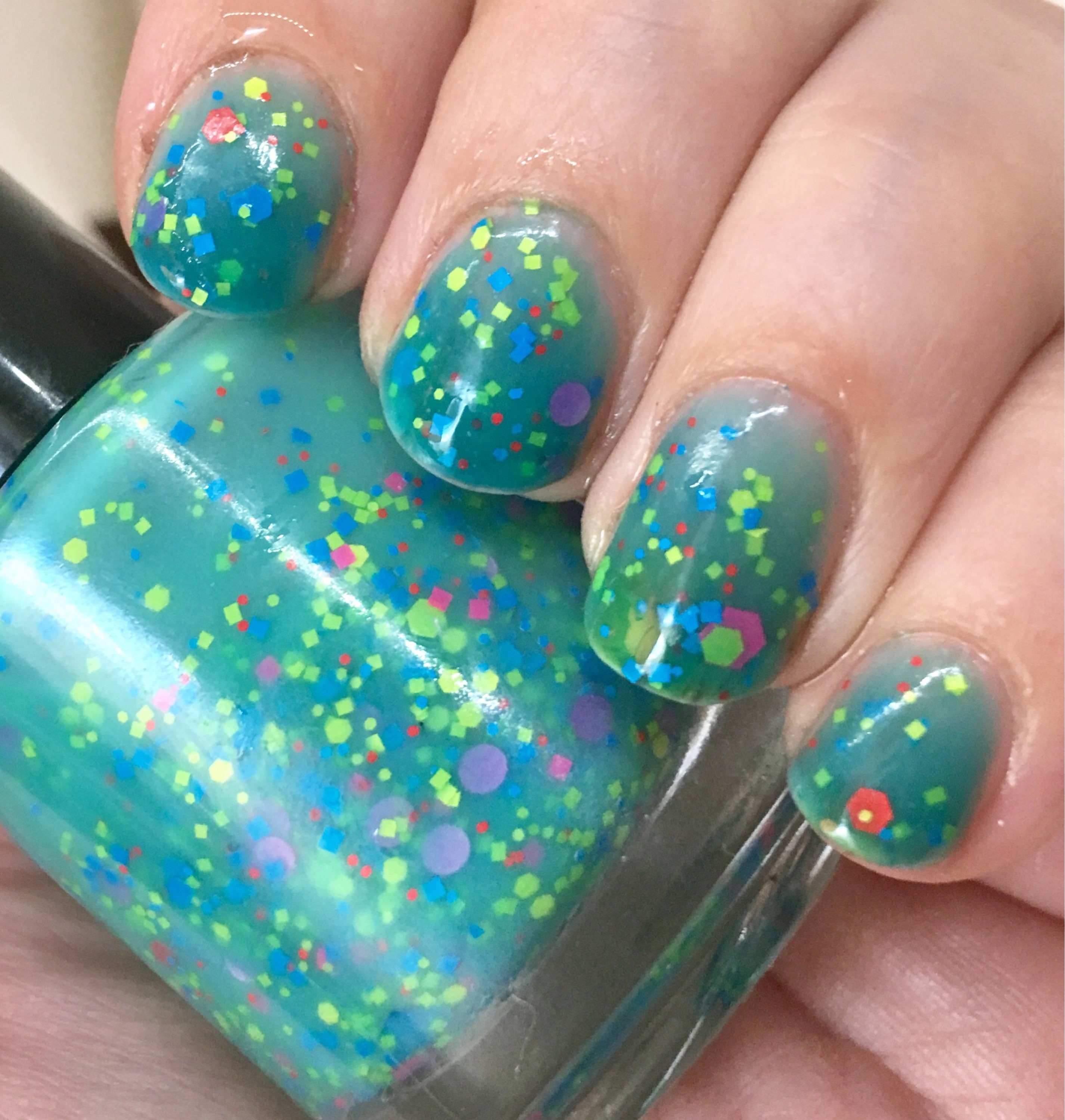 Mathematical Nail Polish Color Changing Turquoise To Cream Etsy