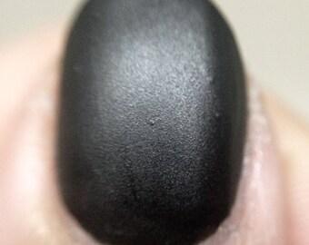 I Am the Bat Nail Polish - matte leather finish black / vegan / nontoxic / cruelty free