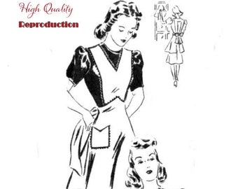 Vintage 1940s Misses' Set of Aprons Reproduction Sewing Pattern
