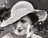 Instant Digital Pattern Women's Crochet 1930s Hat #4673 PDF