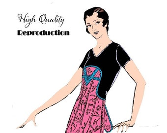 Minute Maid Apron - Vintage 1920s 1 Yard Apron Reproduction Sewing Pattern