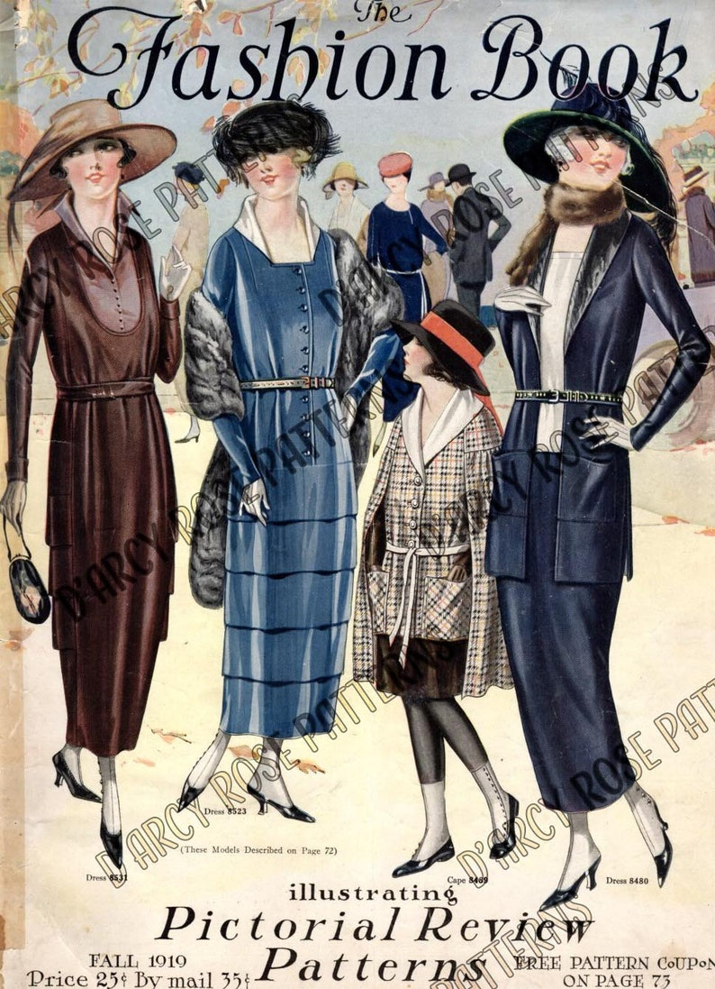 Pictorial Review Patterns Fall 1919 Fashion Magazine Catalog Super Rare