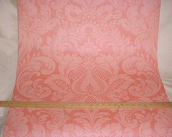 10 yards by 27 inches Scalamandre WP88213 Daphne Coral Pink - Luxury Damask Wallpaper Wallcovering Paper - Below Wholesale - Free Shipping