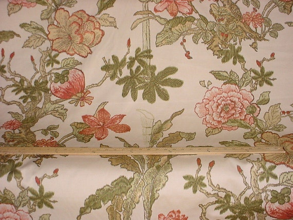 1 5 8 Yards F Schumacher Singapore Large Scale Exotic Floral Etsy