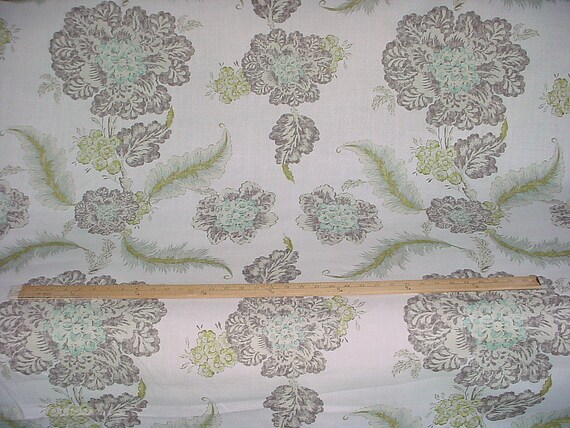 13 3 8 Yards Acquitaine Of England Seglinde Large Scale Andalusian Floral Luxury Linen Print Drapery Upholstery Fabric Free Shipping