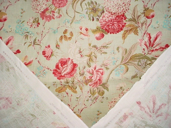 Lee Jofa Sussex Roses Cotton Print Upholstery Drapery Fabric