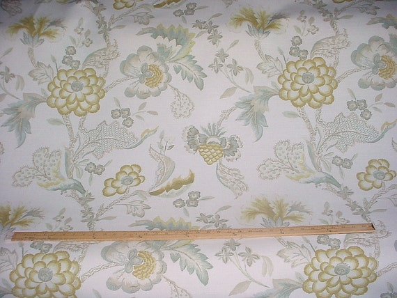 12 5 8 Yards Acquitaine Of England Genache Large Scale Country French Luxury Linen Print Drapery Upholstery Fabric Free Shipping