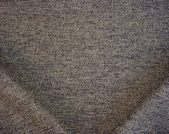 5-1/8 yards Duralee / Fonthill 36193 in Black / Stone - Earthy Textured Tweed Drapery Upholstery Fabric - Below Wholesale - Free Shipping
