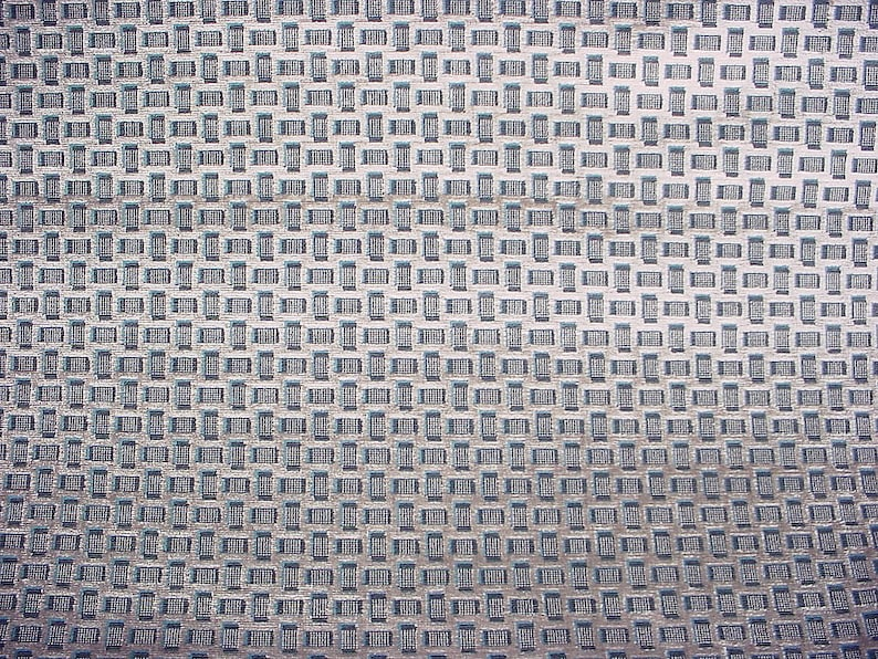 Luxurious Silver Blue Textured Lattice Velvet Upholstery Fabric Free Shipping 4-12 yards Jim Thompson JT013705 Quadrato in Zinc