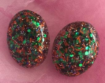 Glitter Lucite Earrings