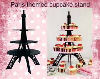 Eiffel Tower cupcake stand all black