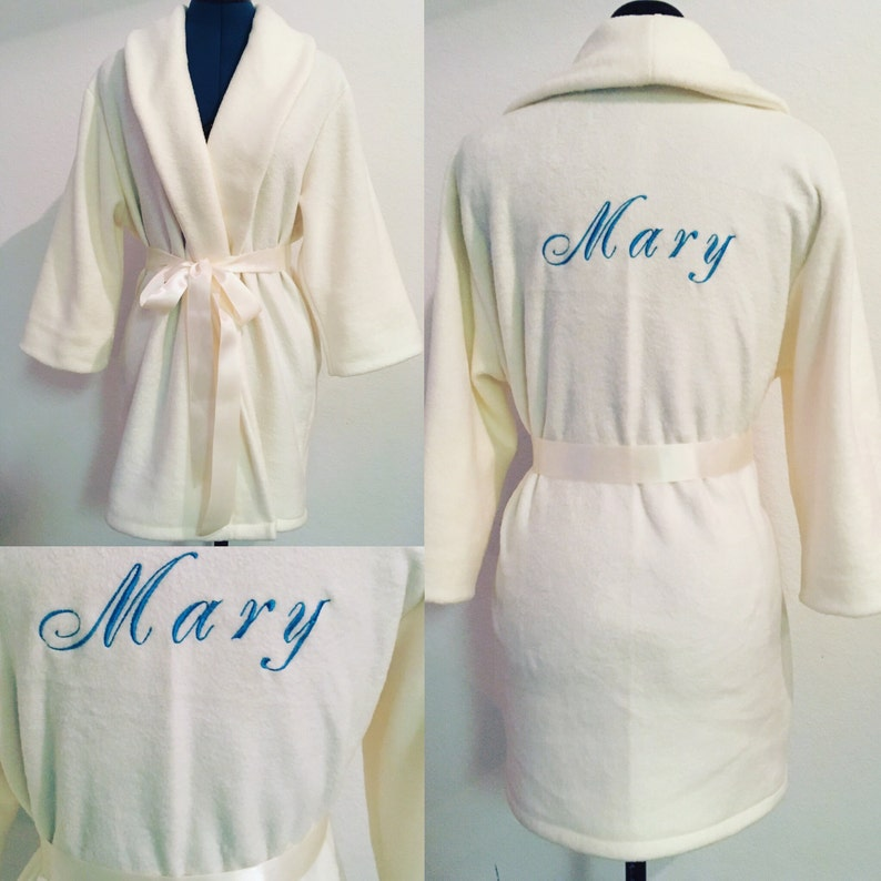 44199f0c78 Fluffy Monogrammed Robes Monogrammed Robes Bridesmaid