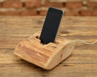 iPhone 6 dock, Wooden iPhone stand, Office accessory, iPhone 7 stand, Wooden stand for iPhone, Gift ideas, Samsung holder